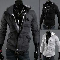 Fashion Men's Winter Slim Warm Hooded Sweatshirt Coat Jacket Outwear Sweater Top