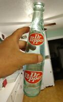 Vintage Collectible Dr. Pepper Green Glass Soda Advertising Bottle 16oz Used
