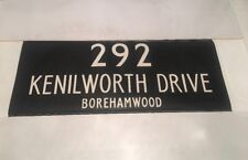 "London Linen Bus Blind Jan78 36""- 292 Kenilworth Drive Borehamwood"