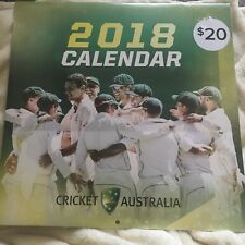 NEW, WRAPPED, CRICKET AUSTRALIA. TEST CRICKETERS. CALENDAR 2018