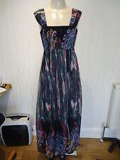 Señoras vestido maxi múltiples Rosa Gris Negro Por desde 1995 Talla 10 Reino Unido