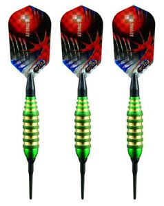 Viper Atomic Bee Knurled Soft Tip Darts – 16 Grams – Green