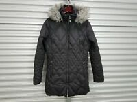 Eddie Bauer Black hooded zipped Winter Goose Down super warm Quality Jacket L