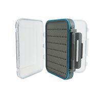 Fly Fishing Box Flies Case 100% Waterproof Double Sided Clear Lip Grip Foam