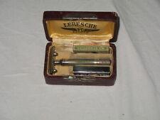 Ancien Coffret Rasoir A Main Mecanique Leresche + boite et lames Gillette