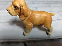 Vintage cocker spaniel Figurine Sitting Porcelain C9051 Napcoware Napco Japan