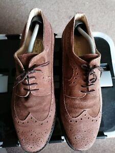 Samuel Windsor Handmade Mens Suede Shoes size 8