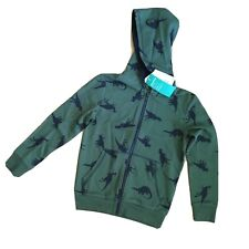 H&M kids Dinosaurs Green Zip Hoodie Size 6-8Y. New With Tags