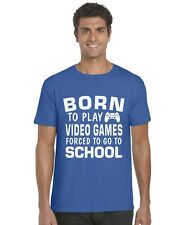 Born To Play Video Games Forced To Go To Work Kids T-Shirt Funny Tee Top