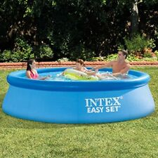 """Intex 10' x 30"""" Easy Set Inflatable Pool New With Filter Pump In Hand"""