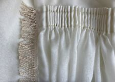 CUSTOM Designer Voile Sheer Curtains EXTRA LONG WIDE Cream Natural PATIO LOUNGE