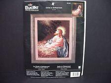 "2002 Bucilla Cross Stitch Kit #43149 ""Christ in Gethsemane"" 11"" x 14"" New But Op"