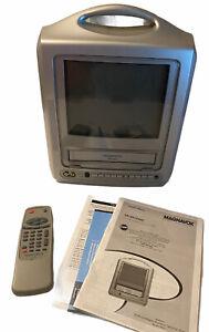 "Magnavox 13"" CRT TV VCR Combo Silver MC13D1MG01 Retro Gaming FOR PARTS!!"