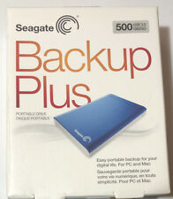 NEW Seagate Backup Plus 500GB SuperSpeed USB 3.0 HDD Portable Hard Drive Blue