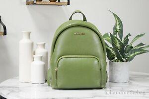 Michael Kors Erin Medium Pebbled Leather Evergreen Backpack Shoulder BookBag