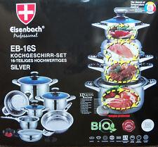 EISENBACH Professional EB 16-S - 16 teiliges hochwertiges Kochset