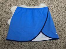Diadora Woman Tennis Skirt Diadry Athletic Sport Stretch Blue Sz S