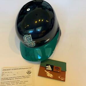1996 Alex Rodriguez Rookie Signed Seattle Mariners Game Model Helmet Upper Deck