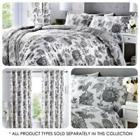 Dreams & Drapes MARINELLI Grey  - Matching Bedroom Set with Eyelet Curtains