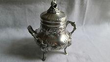 Grand sucrier en Argent Massif silver Minerve décor Louis XV