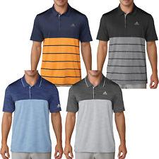 Adidas Mens Golf Ultimate 365 Heather Block Performance Polo Shirt