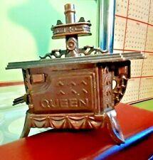 Vintage Die Cast Mini Pencil Sharpener Antique Finished Queen Wood Kitchen Stove