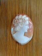 Vintage Finely Carved Unmounted Cameo for Brooch