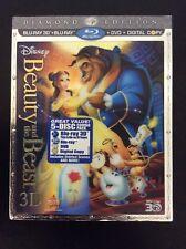 Beauty And The Beast Diamond Edition Animated 3D Blu Ray + DVD 5 Disc combo