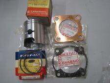 KAWASAKI NOS PISTON & RINGS +0.50 O/S & GASKETS 13029-068 KE125 KD125 KS125