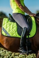 Hi Vis Viz High Visibility Fluorescent Horse Saddle Pad - Yellow Orange or Pink