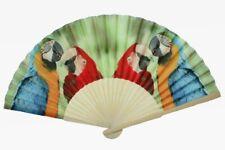 Fächer Papageien, 21 x 38 cm, Tier Tiere, Handfächer, Aras Ara Vögel Vogel