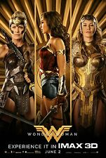 Wonder Woman Movie Poster (24x36) - Gal Gadot, Connie Nielsen, Robin Wright v8