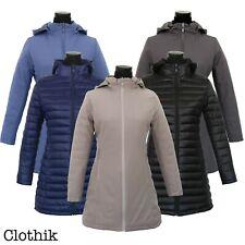 PIUMINO DONNA giacca giubbotto cappotto reversibile 100 grammi double face lungo