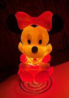 Disney Minnie Mouse Lamp Indoor Light - Night Light Very Nice & Works