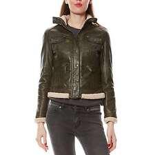 Veste / Blouson cuir Kaki Oakwood Neuf taille XL = 40/42