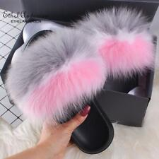 Ethel Anderson Real Fox Fur Slides Hot Sale Summer Sexy New Color Women Slippers