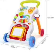 Baby Walker First Steps Activity Bouncer Musical Puzzle Toys Speed Adjustable