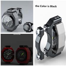 Motorcycle Clock Gauge Luminous Combo Temperature+Time 8 Gear Rotated Adjustable