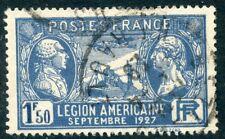 TIMBRE FRANCE OBLITERE N° 245 VISITE DE LA LEGION AMERICAINE