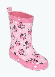 Kids Girls Pink Minnie Mouse Wellies (Younger 4-12)  Wellingtons wellys