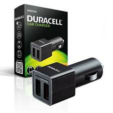 NEW Duracell Double Twin USB High Output FAST 2.4A Phone and Device Charger