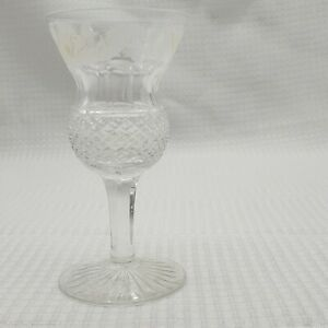 Edinburgh Crystal Thistle Hock Wine Cut Glass Scotland Replacement Vintage 6.5""