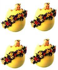 Anne Geddes BABY Flower EGG Scrapbook Stickers 4 Sheets