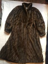 PHILIPHOCKLEYMINK FUR COATDIAGONAL STRANDED DEMI BUFF WITH TUXEDO FRONT
