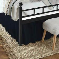 Bed Skirt Ruffle Split Corner 100% Egyptian Cotton Navy Blue Queen/King Size