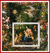 Cook Islands 1971 Christmas ART, painting by Jan Brueghel, Mi Block 11, SG MS371