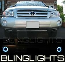 2001-2007 Toyota Highlander Halo Fog Lamp Angel Eye Driving Light Kit + Harness