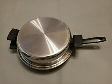 """Royal Prestige Ultra Ease 11"""" Pan Dutch Oven 7 Ply Surgical Stainless Steel Ekco"""