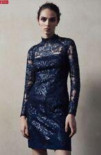 Reiss Asabi Lentejuelas Azul Marino impresionante vestido nuevo con etiquetas talla 4 Uk Rrp £ 245