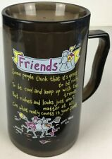 "Purple Ronnie Friends Vintage 2000s 6"" Freeze Mug / Beer Stein (Freezer Gel) New"